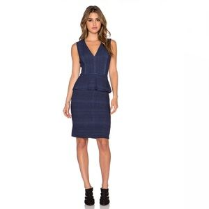 BCBGMAXAZRIA Juliene Dress in Dark Ink Combo